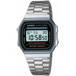 Casio Mens CASIO Collection Steel Digital Watch A168WA-1YES