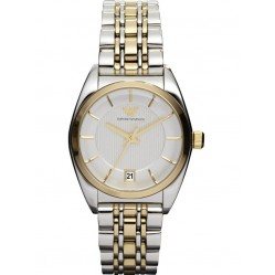Emporio Armani Ladies Two Tone Stainless Steel Bracelet Watch AR0380