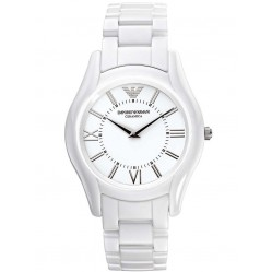 Emporio Armani Mens White Ceramica Watch AR1443