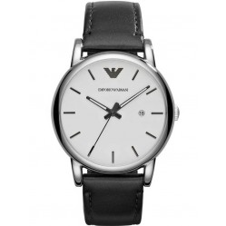 Emporio Armani Mens Leather Strap Watch AR1694