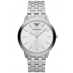 Emporio Armani Mens White Dial Watch AR1745