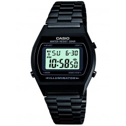 Casio Mens CASIO Collection Black Steel Digital Display Watch B640WB-1AEF