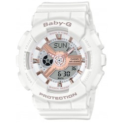 Casio Baby G White Strap Watch BA-110RG-7AER