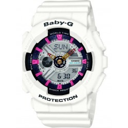 Casio Ladies Baby-G World Time White Chronograph Watch BA-110SN-7AER