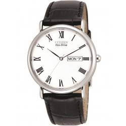 Citizen Mens Stiletto Brown Leather Strap Watch BM8240-11A