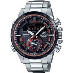 Casio Mens Edifice Stainless Steel Bracelet Solar Watch ECB-800DB-1AEF