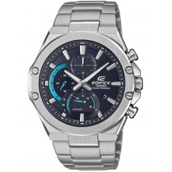 Casio Mens Edifice Stainless Steel Bracelet Black Chronograph Date Watch EFS-S560D-1AVUEF