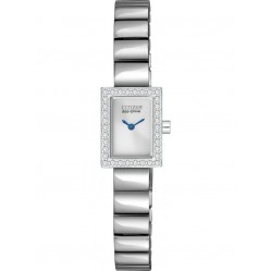 Citizen Ladies Silhouette Rectangular Bracelet Watch EG2880-54A