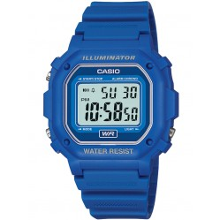 Casio Blue Plastic Strap Grey Digital Dial Watch F-108WH-2AEF