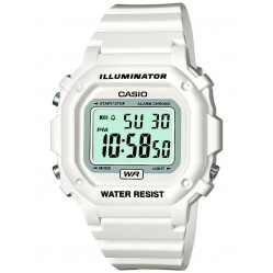 Casio Unisex White Rubber Strap Watch F-108WHC-7BEF