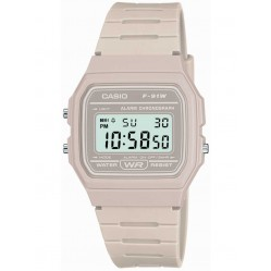 Casio Unisex White Alarm Watch F-91WC-8AEF