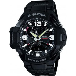 Casio G-Shock Master Of G Air Gravitymaster Black Plastic Strap Watch GA-1000FC-1AER