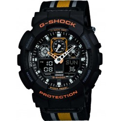 Casio G-Shock Black  Chronograph Watch GA-100MC-1A4ER