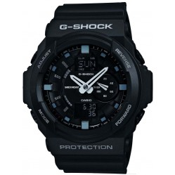 Casio G-Shock Black Rubber Strap Date Watch GA-150-1AER