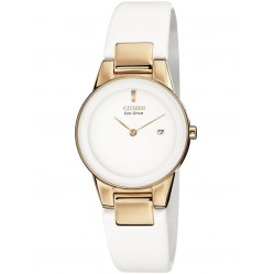 Citizen Ladies Axiom White Strap Watch GA1053-01A