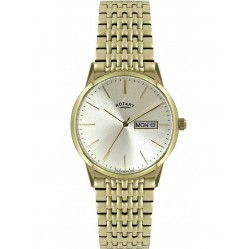 Rotary Mens Gold Plated Bracelet Watch GB02753-03