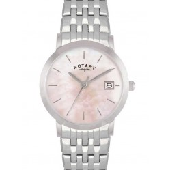 Rotary Ladies Pink Mother of Pearl Watch LB02622-07