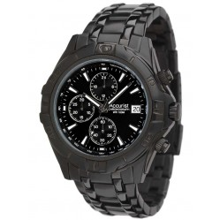 Accurist Mens Black Chronograph Watch MB837