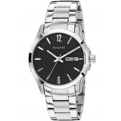 Accurist Mens Black Dial Watch MB987B