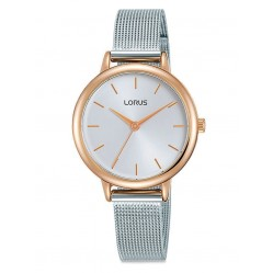 Lorus Ladies Stainless Steel Two Tone Mesh Strap Watch RG224PX9