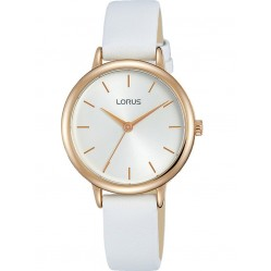 Lorus Ladies White Dial White Leather Strap Watch RG246NX8