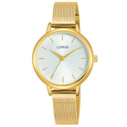 Lorus Ladies Gold Tone White Dial Mesh Strap Watch RG250NX8