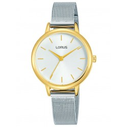 Lorus Ladies Stainless Steel Two Tone Mesh Strap Watch RG250NX9