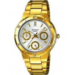 Casio Sheen Gold Plated Silver Multi Watch SHE-3800GD-7AEF