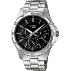 Casio Sheen Black Multi Watch SHE-3801D-1ADR