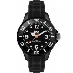 Ice-Watch Unisex Rubber Strap Watch SI.BK.M.S.13
