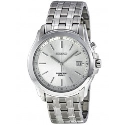 Seiko Mens Kinetic Steel Watch SKA487P1