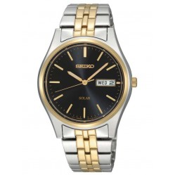 Seiko Discover More Solar Two Tone Bracelet Watch SNE034P1
