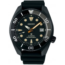 Seiko Mens Sumo Black Rubber Strap Black Dial Date Watch SPB125J1