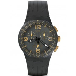 Swatch Mens Gordon Black Watch SUSA401