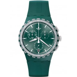 Swatch Mens Racing Roar Green Chronograph Strap Watch SUSG403