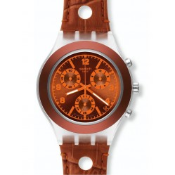 Swatch Unisex Rouille Chronograph Watch SVCK4073