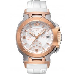 Tissot Ladies T-Race White Chronograph Watch T048.217.27.017.00