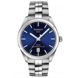 Tissot Mens Pr100 Auto Stainless Steel Bracelet Blue Dial Watch T101.407.11.041.00