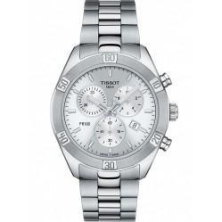 Tissot Mens Pr100 Stainless Steel Bracelet Silver Dial Chronograph Watch T101.917.11.031.00