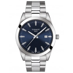 Tissot Mens T-Classic Stainless Steel Bracelet Navy Dial Dy Watch T127.410.11.041.00