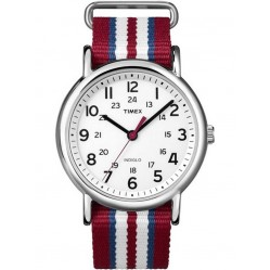 Timex Unisex Red Fabric Strap Watch T2N746