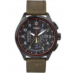 Timex Intelligent Quartz Mens Olive Strap Watch T2P276AU
