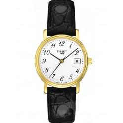 Tissot Ladies Gold Plated Strap White Dial Watch T52.5.121.12