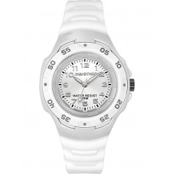 Timex Unisex White Rubber Strap Watch T5K542