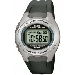 Casio Mens Black Rubber Strap Watch W-42H-1AVES