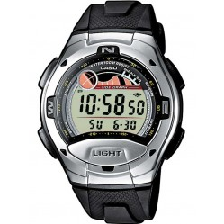 Casio Mens Black Rubber Strap Watch W-753-1AVES