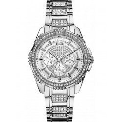 Guess Ladies Silver Dial Watch W0286L1