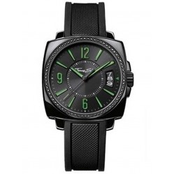 Thomas Sabo Black Rubber Green Hand Watch WA0106-208-203