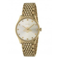 Gucci Ladies Timeless Gold Plated Bee Watch YA1264155
