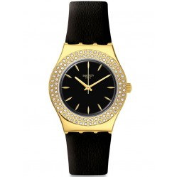 Swatch Ladies Goldy Show Strap Watch YLG141